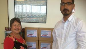 Food parcels for Te Hononga