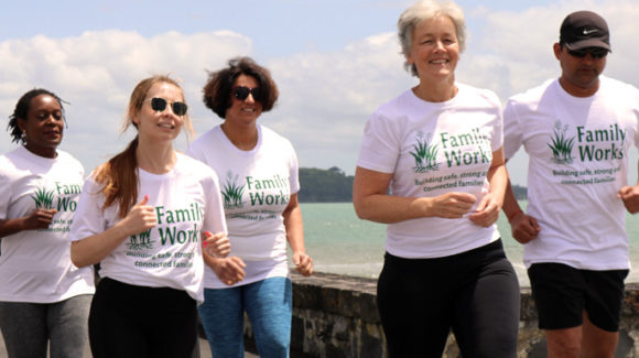 Family Works Angels running Round the Bays 2020!